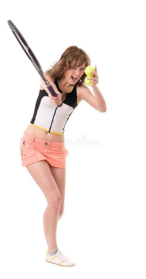 jeu de la femme de tennis images libres de droits