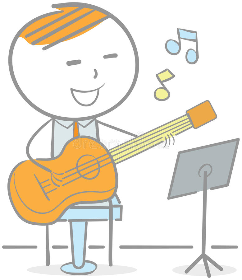 Jeu de la guitare illustration stock