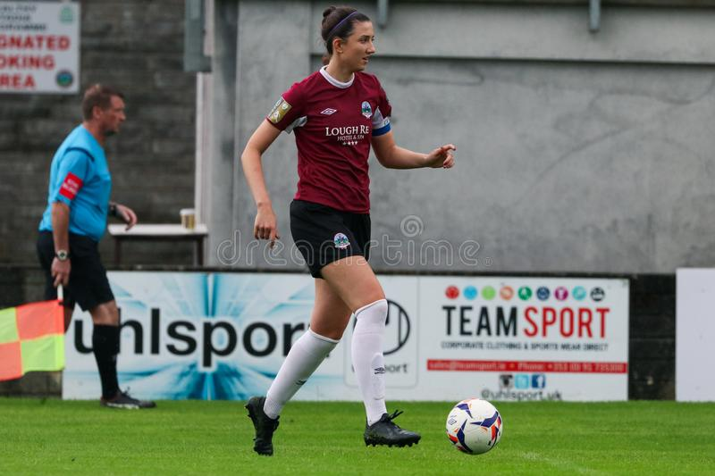 Jeu de la ligue nationale des femmes : Galway WFC contre Peamount a uni photo stock