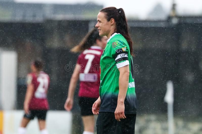 Jeu de la ligue nationale des femmes : Galway WFC contre Peamount a uni photos stock
