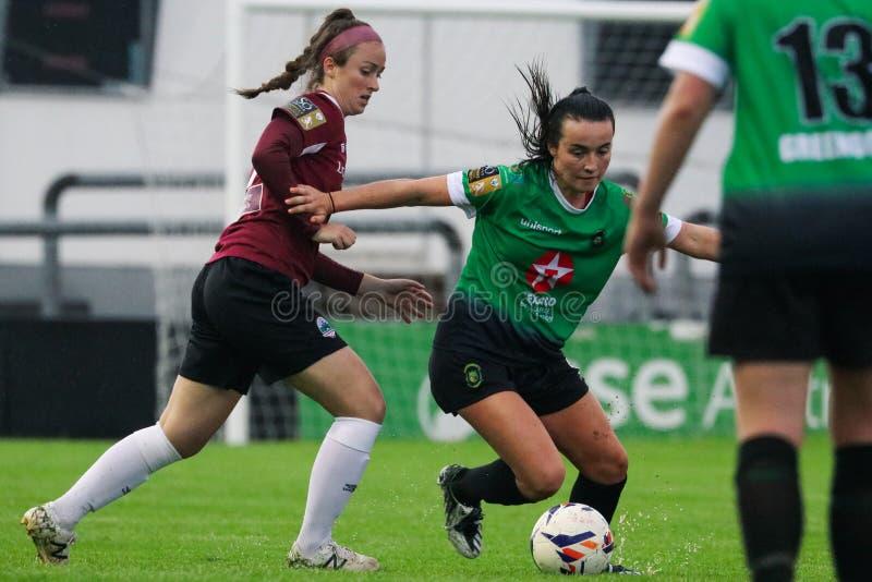 Jeu de la ligue nationale des femmes : Galway WFC contre Peamount a uni photographie stock