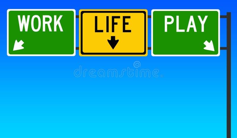 Jeu de la vie de travail illustration libre de droits