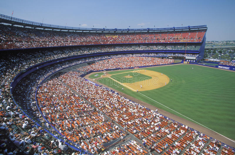 Jeu de Ligue Majeure de Baseball photographie stock libre de droits
