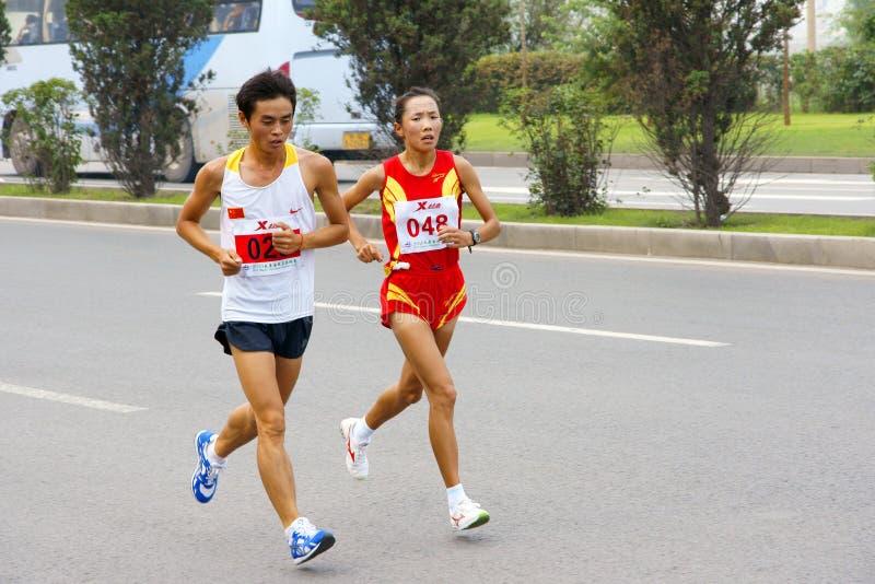 Jeu de marathon photographie stock libre de droits
