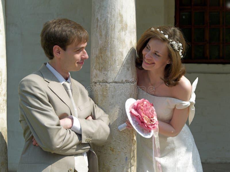 Jeu de mariée et de marié image libre de droits