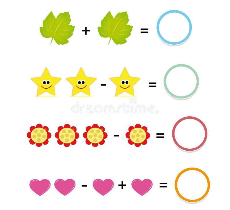 Jeu de maths, partie illustration stock