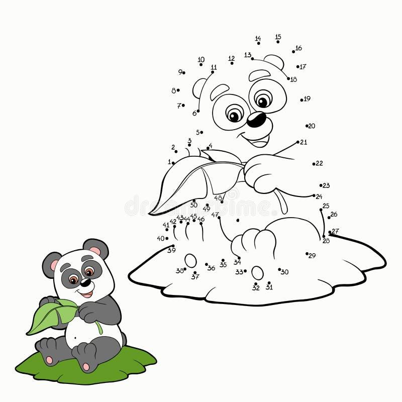 Jeu de nombres (panda) illustration stock