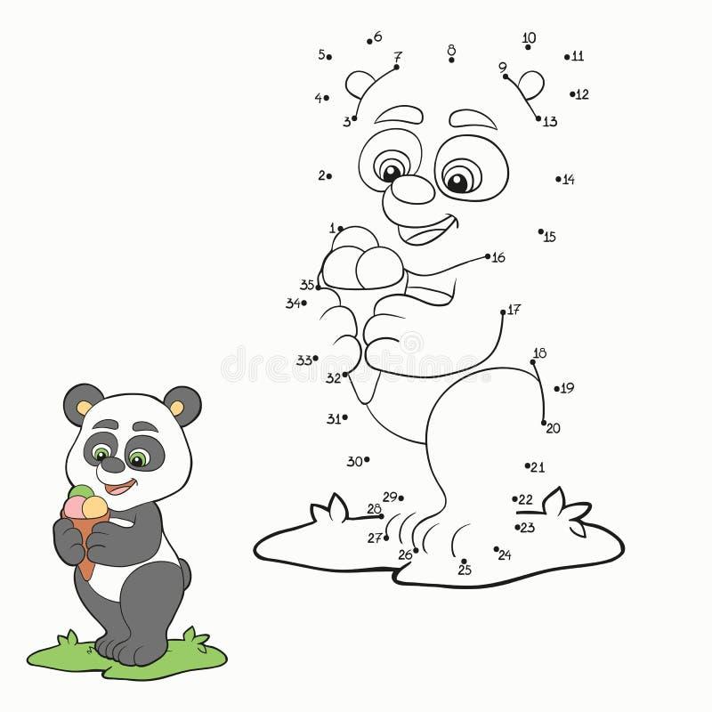 Jeu de nombres (panda) illustration de vecteur