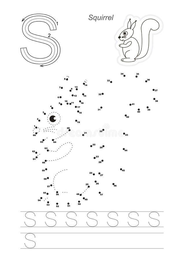 Jeu De Nombres Pour La Lettre Illustration De Vecteur