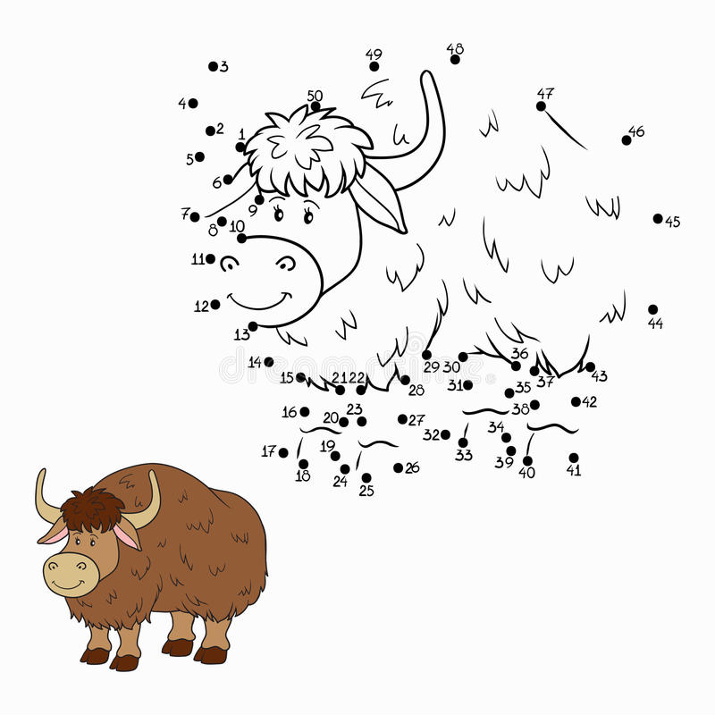 Jeu de nombres (yaks) illustration stock
