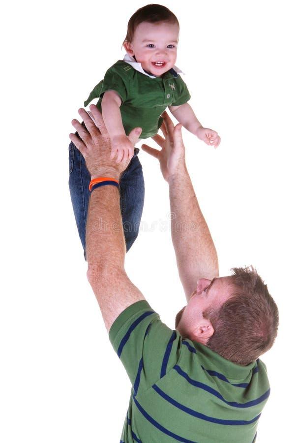 Jeu de père et de fils. images libres de droits