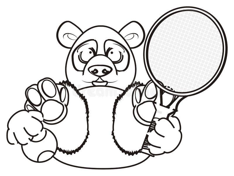 Download Jeu De Panda De Coloration Au Tennis Illustration Stock - Illustration du fond, coloration: 77151588