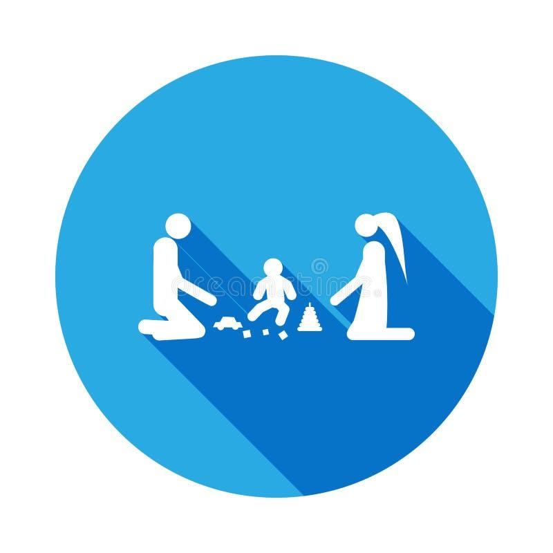 jeu de parents avec l'icône d'enfant Élément d'illustration de personnes mariée par vie Signes et icône de collection de symboles illustration libre de droits