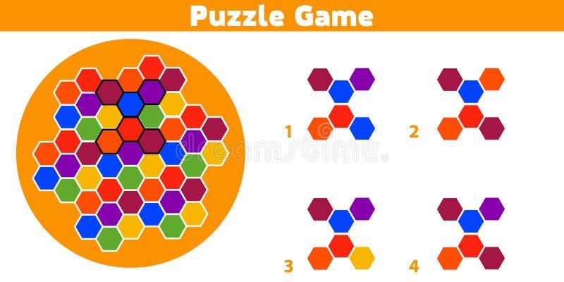 Jeu de puzzle Accomplissez le jeu de logique d'éducation de modèle pour les enfants préscolaires Illustration de vecteur illustration libre de droits