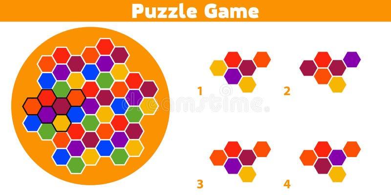 Jeu de puzzle Accomplissez le jeu de logique d'éducation de modèle pour les enfants préscolaires Illustration de vecteur illustration stock