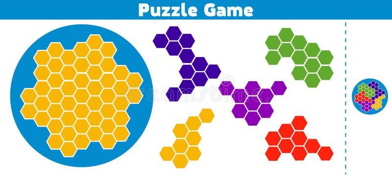 Jeu de puzzle Accomplissez le jeu de logique d'éducation de modèle pour les enfants préscolaires Illustration de vecteur illustration de vecteur