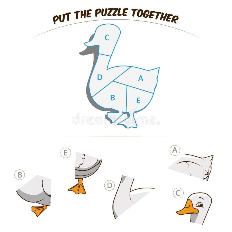 Jeu de puzzle pour l'oie illustration libre de droits