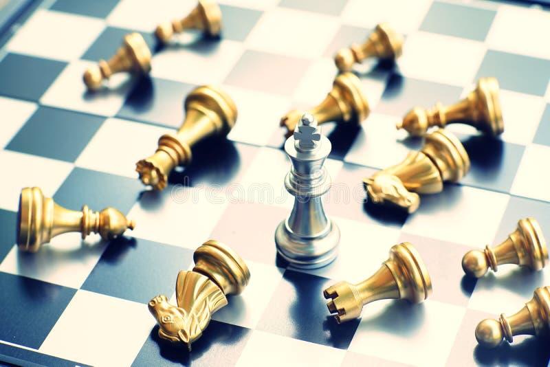Jeu de société d'échecs, concept concurrentiel d'affaires, l'espace de copie image stock