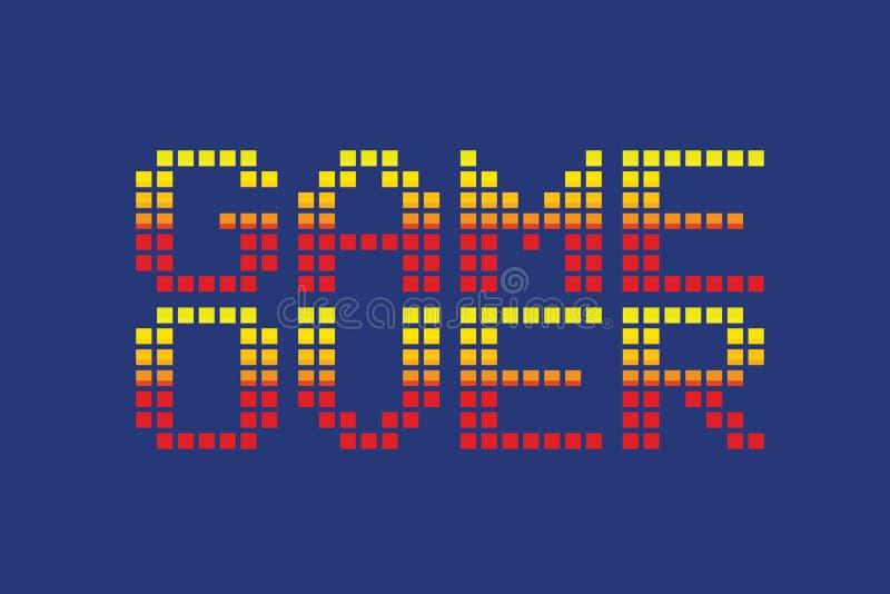 Jeu de style d'art de pixel de vecteur au-dessus de message illustration libre de droits