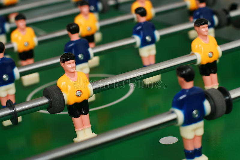 Jeu de table du football. photo stock