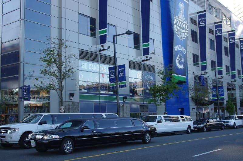 Jeu de Vancouver Canucks image libre de droits