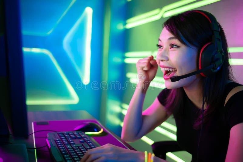 Jeu de victoire de gamer de sport de Cyber image libre de droits