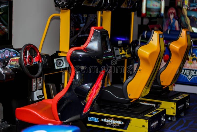 Jeu de voiture de course photographie stock libre de droits