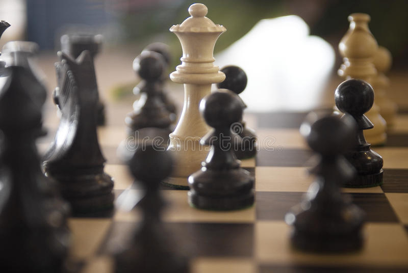 Jeu des échecs photo stock