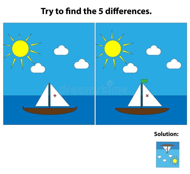 Jeu des différences illustration libre de droits