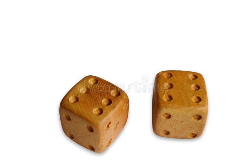 Jeu des matrices - cubes en bois sur un fond blanc photographie stock libre de droits