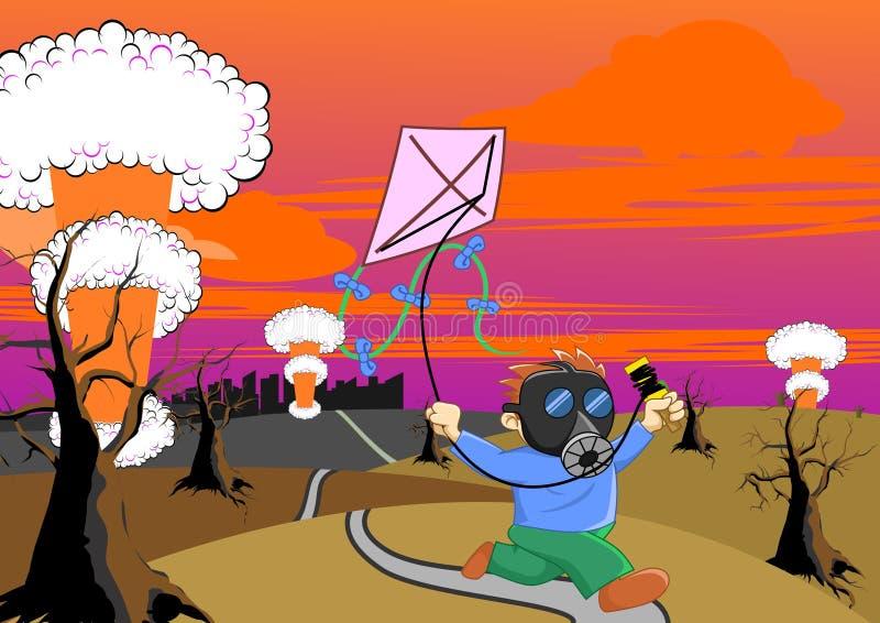 Jeu du cerf-volant illustration de vecteur