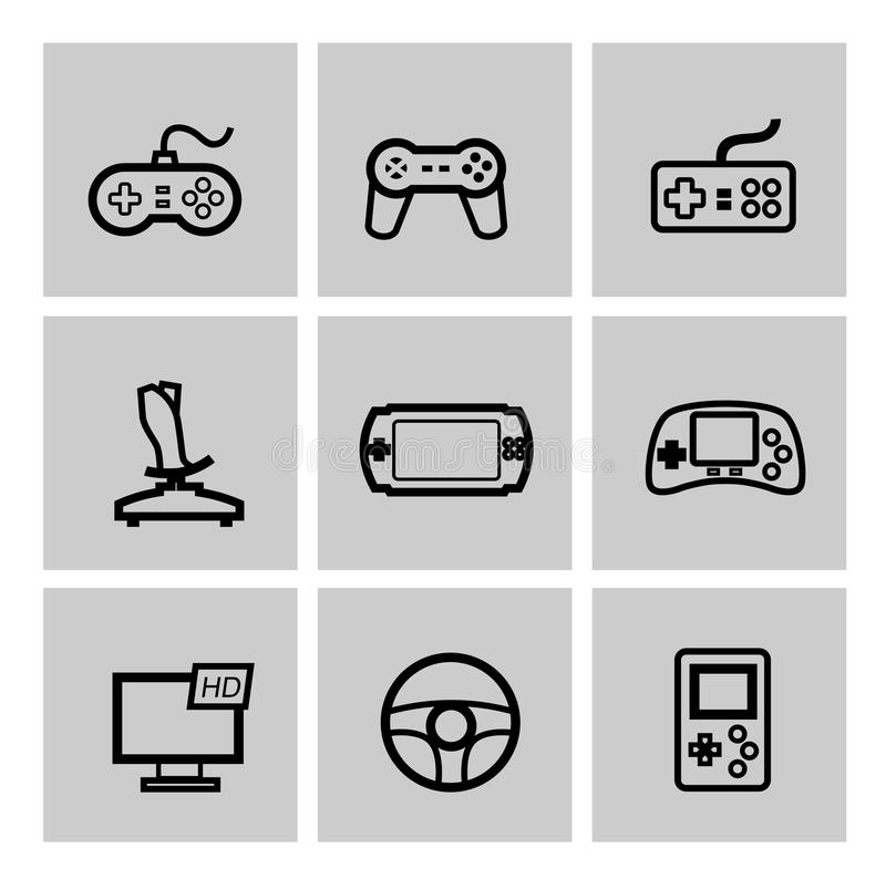 Jeu et manette illustration stock