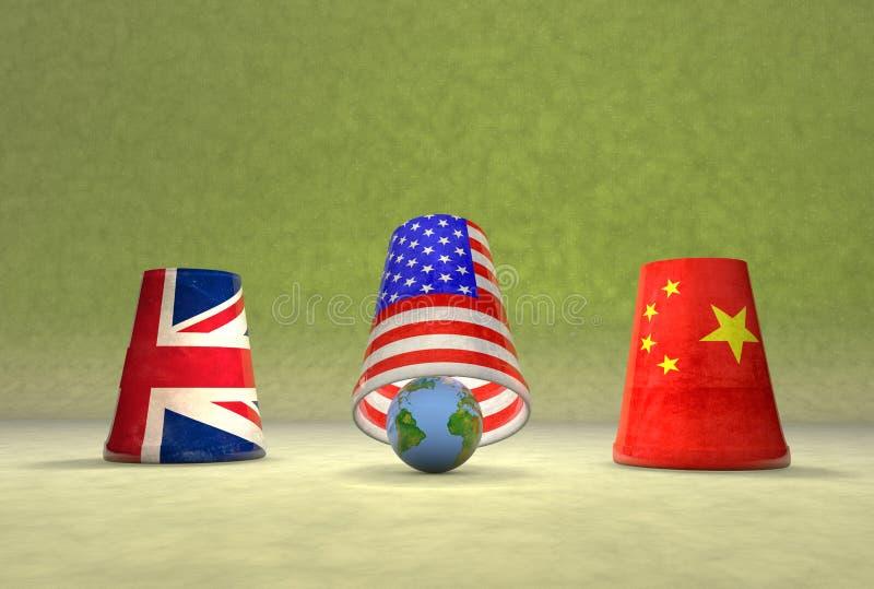 Jeu global de tasses illustration de vecteur
