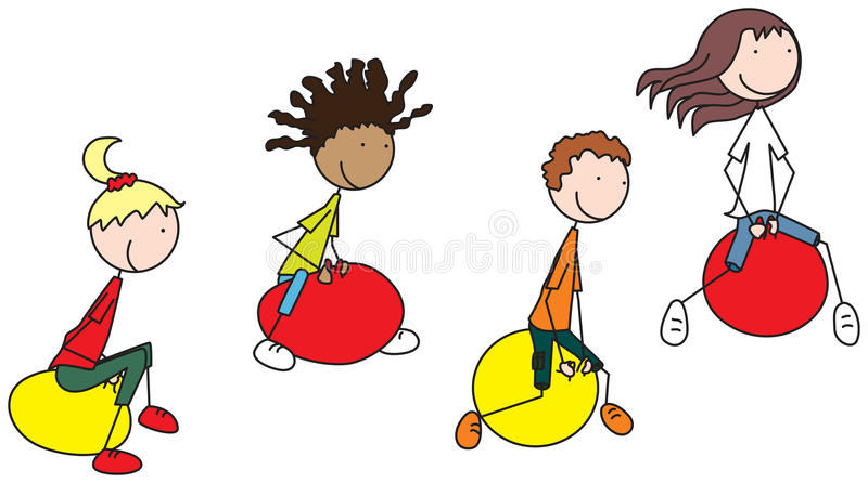 Download Jeu heureux de gosses illustration de vecteur. Illustration du africain - 76084415