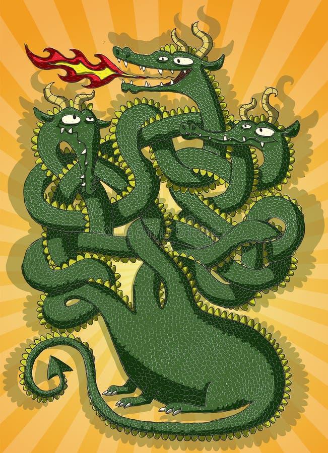 Jeu mignon de labyrinthe de dragon illustration stock