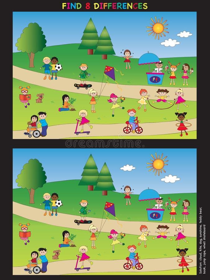 Jeu pour des enfants illustration libre de droits