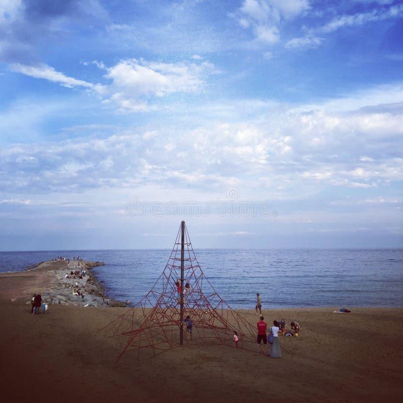 Jeu sur la plage photos stock