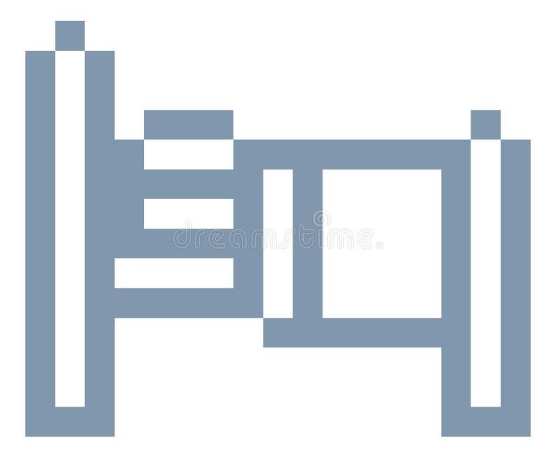 Jeu vidéo mordu Art Icon du pixel 8 de lit illustration libre de droits