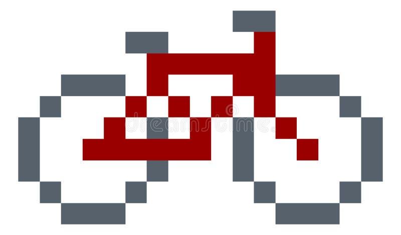 Jeu vidéo mordu Art Icon du pixel 8 de vélo ou de bicyclette illustration de vecteur