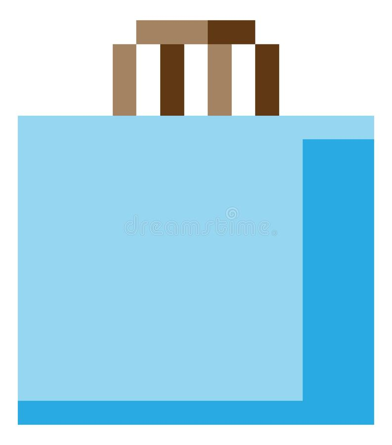 Jeu vidéo mordu Art Icon du sac à provisions 8 illustration libre de droits