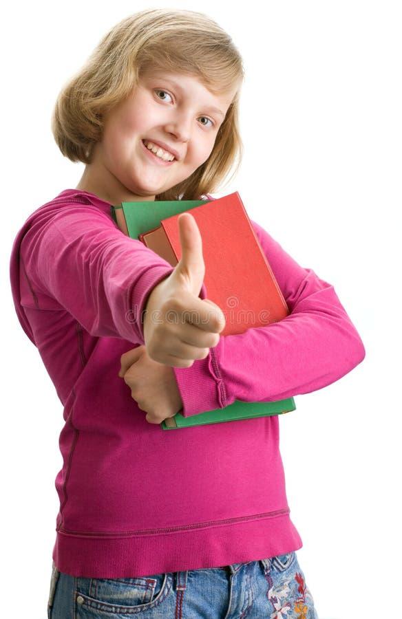 Jeune écolière Avec Des Livres Photographie Gratuite