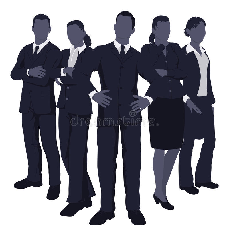 Jeune équipe dynamique d'affaires illustration stock
