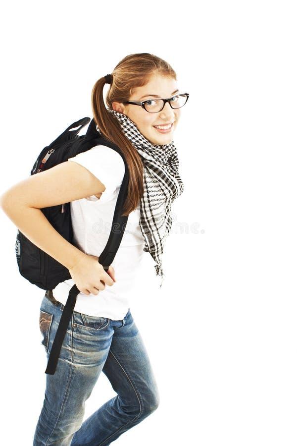Jeune étudiant attirant allant à l'université d'école photos libres de droits
