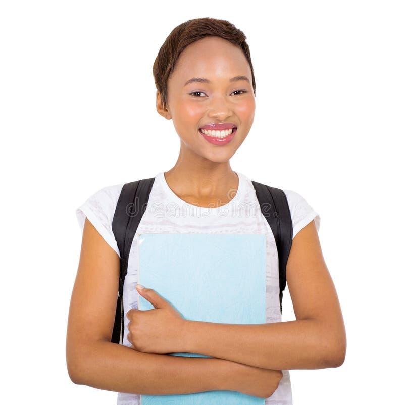Jeune étudiant universitaire noir images stock
