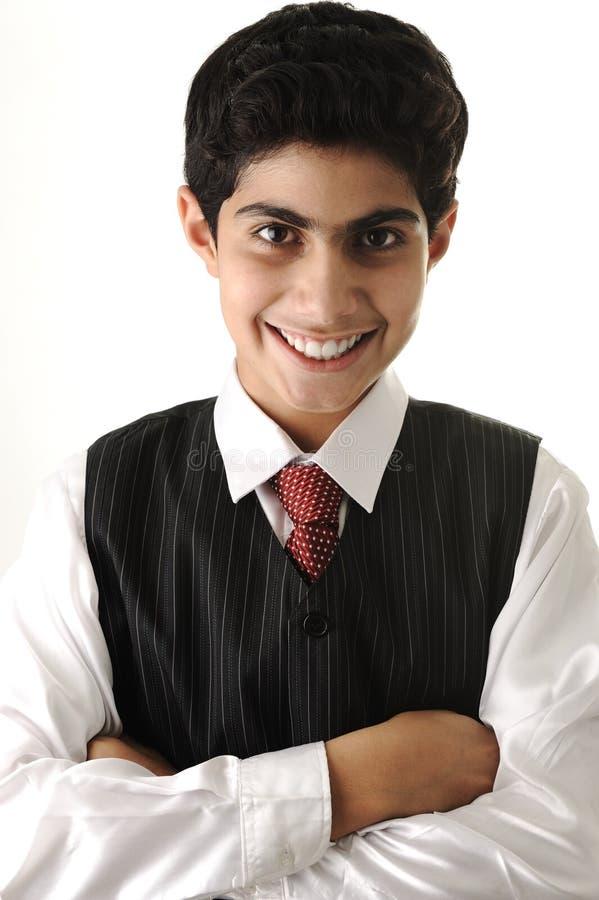 Jeune adolescent positif photo stock