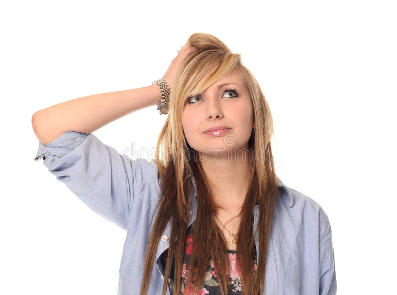 Jeune adolescente pensive photos libres de droits