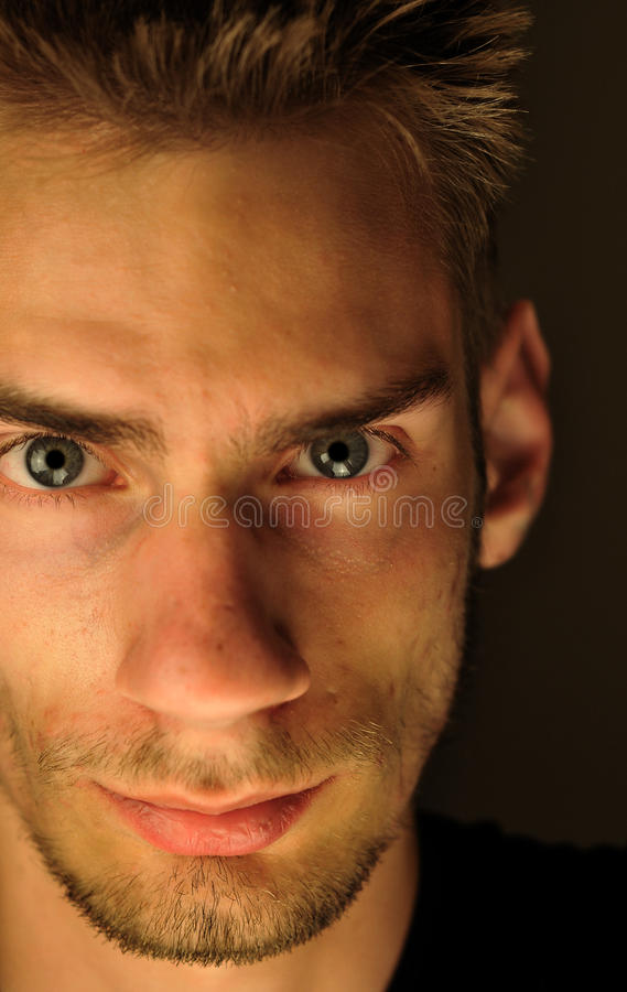 Jeune alpha mâle masculin photographie stock