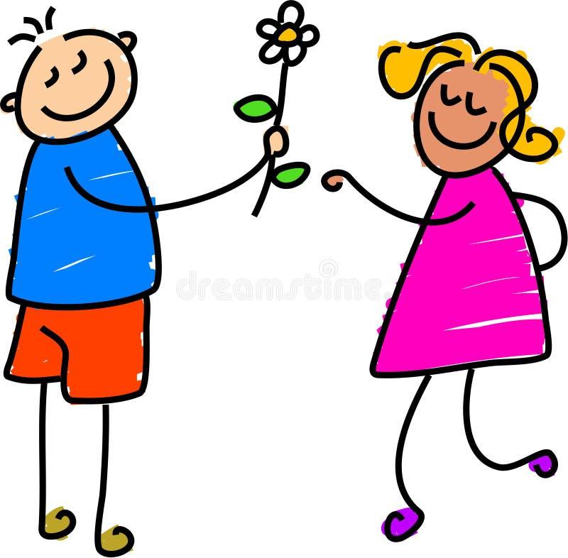 Jeune amour illustration libre de droits