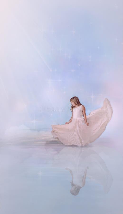 Jeune ange d'hiver illustration libre de droits