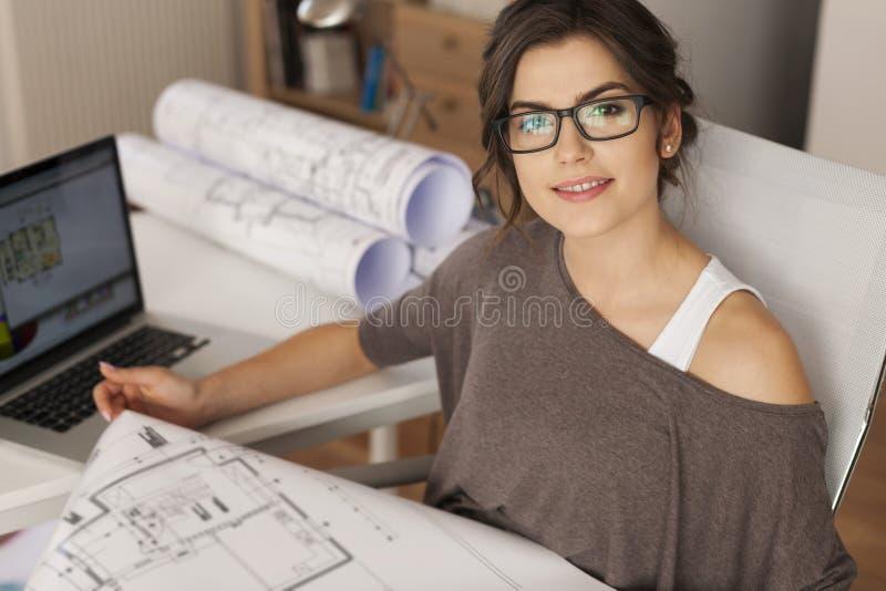 Jeune architecte images libres de droits